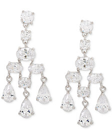 Giani Bernini Cubic Zirconia Chandelier Drop Earrings in Sterling Silver, Created for Macy's
