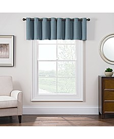 "Antique Satin 52"" x 18"" Room-Darkening Grommet Window Valance"