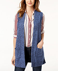 Karen Scott Petite Marled Sweater Vest, Created for Macy's