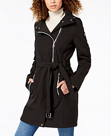 Calvin Klein Petite Asymmetrical Hooded Coat