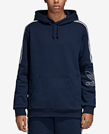 adidas Men's Originals Outline-Logo French Terry Hoodie