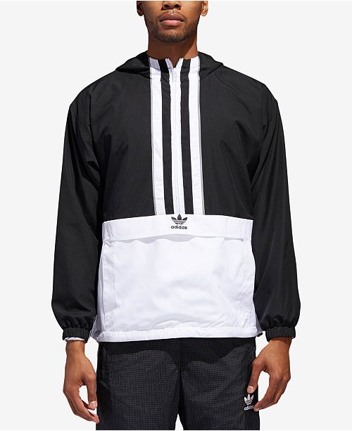 factory authentic sneakers 100% genuine adidas Men's Originals Authentics Hooded Half-Zip ...
