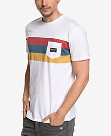 Quiksilver Men's Peaceful Progression Stripe Pocket T-Shirt
