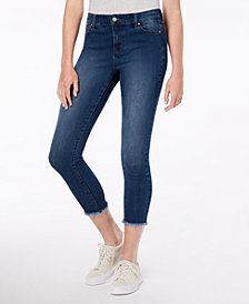 Celebrity Pink Juniors' Cropped Raw-Hem Jeans