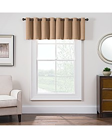 "Keeco Antique Satin 52"" x 18"" Room-Darkening Grommet Window Valance"
