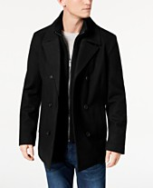 8895c2686a8 Kenneth Cole Men s Big   Tall Double Breasted Wool Peacoat ...