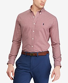 Men's Big & Tall Classic Fit Cotton Gingham Shirt