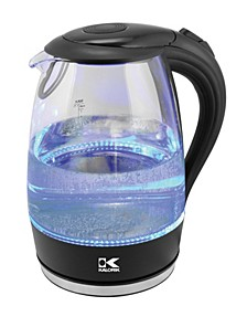 Glass Water Kettle with Blue LED lights