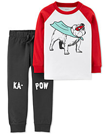 Carter's Baby Boys 2-Pc. Super Dog Cotton Set
