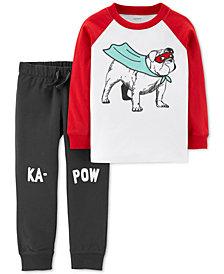 Carter's Baby Boys 2-Pc. Super Dog Cotton Set