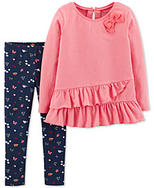 Carter's Toddler Girl 2-Pc. Ruffle Tunic & Leggings Set
