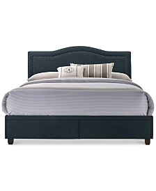 Dorset Queen Upholstered Bed, Quick Ship