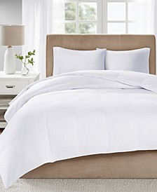 Level 3 300 Thread Count Cotton Sateen White King Down Comforter with 3M Scotchgard