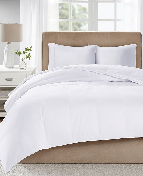 Sleep Philosophy Level 3 300 Thread Count Cotton Sateen White King Down Comforter with 3M Scotchgard