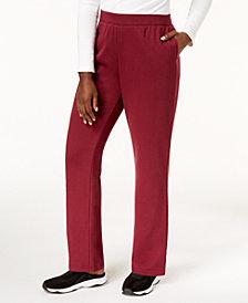 Karen Scott Petite Fleece Sweatpants, Created for Macy's