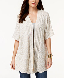 Style & Co Pointelle Open-Front Cardigan, Created for Macy's