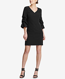 DKNY V-Neck Ruched-Sleeve Dress, Created for Macy's