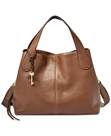 Fossil Maya Leather Satchel