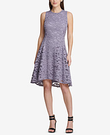 DKNY Lace Fit & Flare Dress, Created for Macy's