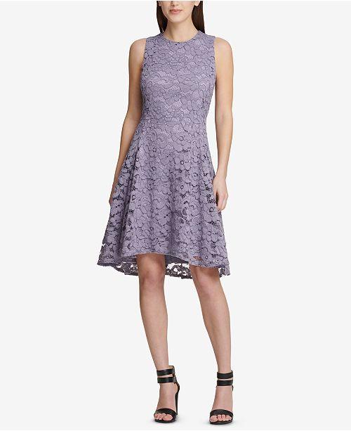 ... DKNY Lace Fit   Flare Dress f6eb4e426
