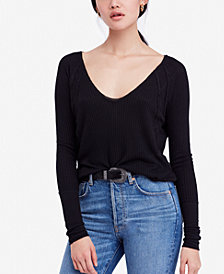 Free People Catalina Long-Sleeve Thermal Top