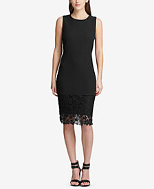 DKNY Lace-Hem Sheath Dress, Created for Macy's