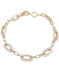 "Anne Klein Two-Tone Link 17"" Collar Necklace"