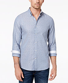 Michael Kors Men's Slim-Fit Geometric Oxford Shirt