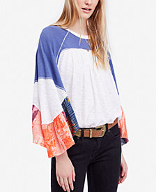 Free People Friday Fever Raglan Contrast Top