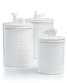 Martha Stewart Collection 3-Pc. Figural Animal Canister Set, Created for Macy's