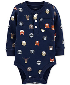 Carter's Baby Boys Forest Animal-Print Cotton Bodysuit