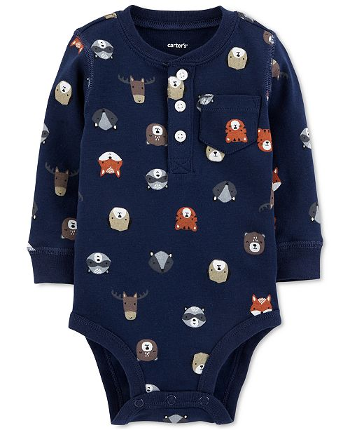 3c91cdc6e843 Carter's Baby Boys Forest Animal-Print Cotton Bodysuit & Reviews ...