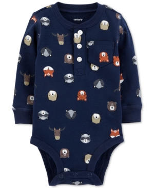 Carters Baby Boys Forest AnimalPrint Cotton Bodysuit