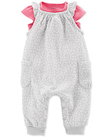 Carter's Baby Girls 2-Pc. T-Shirt & Printed Jumpsuit Set