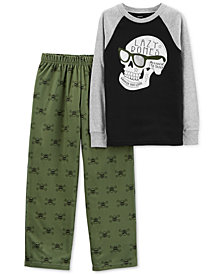 Carter's Little & Big Boys 2-Pc. Lazy Bones Pajama Set