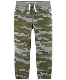 Carter's Toddler Boys Camo-Print Fleece Jogger Pants