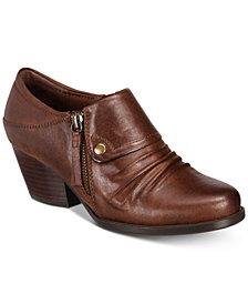 Bare Traps Rafaella Block-Heel Zip Ankle Booties