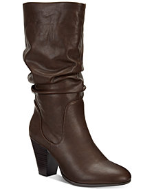 Esprit Oliana Memory-Foam Mid-Shaft Boots, Created for Macy's