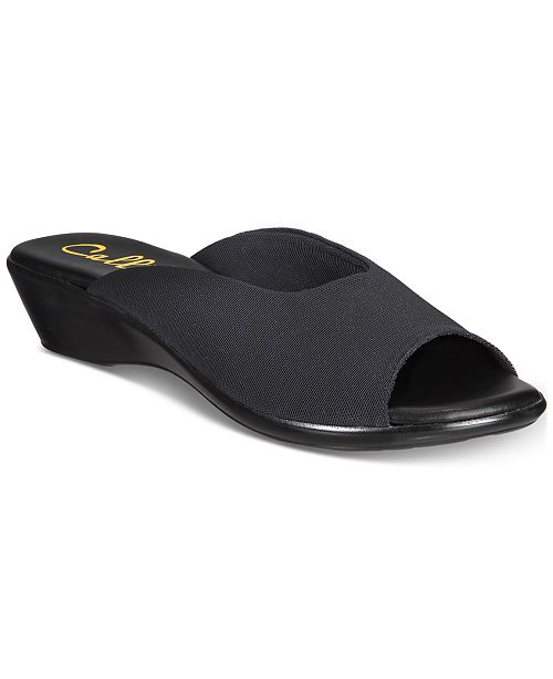 Callisto Bossy Slide Wedge sandals, Created for Macy's