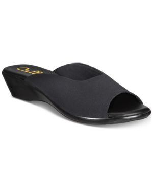 CALLISTO | Callisto Bossy Slide Wedge sandals, Created for Macy's Women's Shoes | Goxip