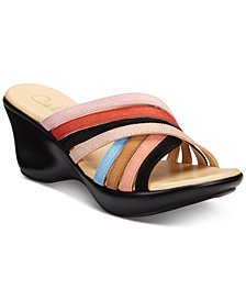 Callisto Willowe Slide Platform Wedge Sandals