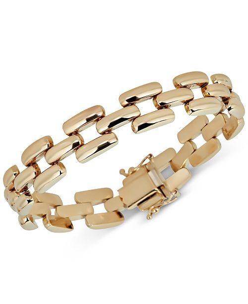ca57b8c65 Macy's Panther Link Chain Bracelet in 14k Gold & Reviews - Bracelets ...