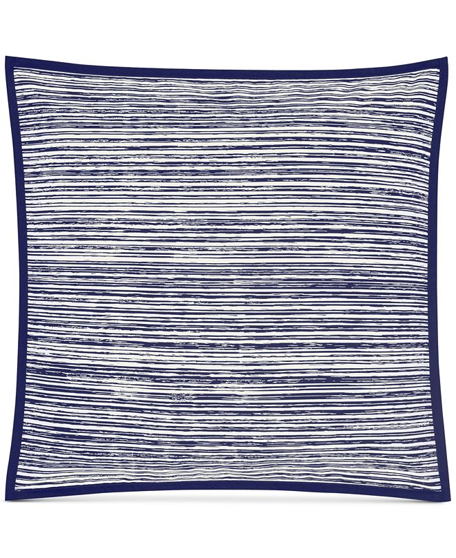 "Oscar Oliver Oscar|Oliver Flen Cotton Indigo 20"" X 20"" Decorative Pillow"