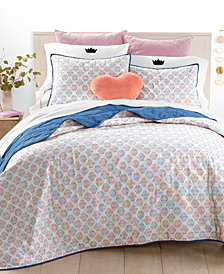 Whim By Martha Stewart Collection Rainbow Hexagon Quilt Collection, Created for Macy's