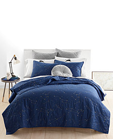 Whim by Martha Stewart Collection Constellation Quilt Collection, Created for Macy's
