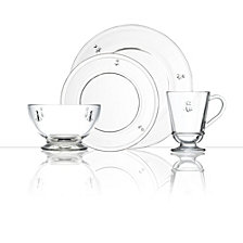 La Rochère Napoleon Bee 24 Piece Glass Dinner Set