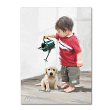 The Macneil Studio 'Boy and Puppy' Canvas Art Collection