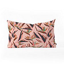 Deny Designs Holli Zollinger ANTHOLOGY OF PATTERN ELLE BIRD OF PARADISE PINK Oblong Throw Pillow