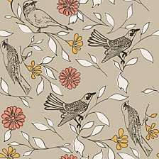 Novogratz for Tempaper Birds Self-Adhesive Wallpaper