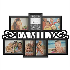 Family Collage Picture Frame with 7 Openings by Lavish Home, Black